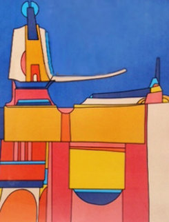 City of Y 32x26 Works on Paper (not prints) - Edward Sokol