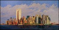 Manhattan Island 1998 40x80 New York Mural Original Painting by Robert Solotaire - 0