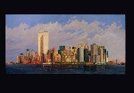 Manhattan Island 1998 40x80 New York Mural Original Painting by Robert Solotaire - 1