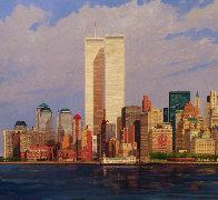 Manhattan Island 1998 40x80 New York Mural Original Painting by Robert Solotaire - 2
