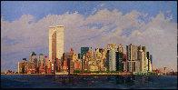 Manhattan Island 1998 40x80 New York Mural Original Painting by Robert Solotaire - 3