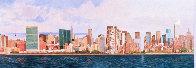 East Side Manhattan 2003 40x120 New York Mural Original Painting by Robert Solotaire - 0