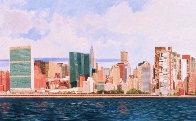 East Side Manhattan 2003 40x120 New York Mural Original Painting by Robert Solotaire - 1