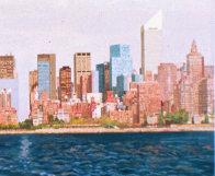 East Side Manhattan 2003 40x120 New York Mural Original Painting by Robert Solotaire - 2