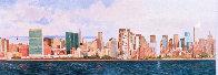 East Side Manhattan 2003 40x120 New York Mural Original Painting by Robert Solotaire - 3