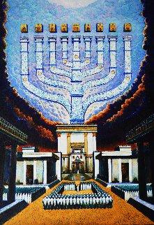 Hanukkah 2020 29x21 Original Painting - Ghenadie Sontu