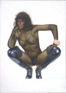 Untitled Painting 21x14 Original Painting - Hajime Sorayama