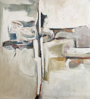 Untitled Abstract Painting 1960 48x44 Original Painting - Don Sorenson