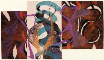 Shoulder Linocut 1992 45x71 Huge  Limited Edition Print - Steven Sorman