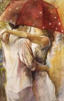 Under Umbrella 2 Embellished  Limited Edition Print - Lena Sotskova