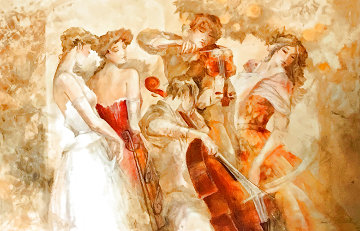 Muses 2008 27x40 Super Huge Limited Edition Print - Lena Sotskova