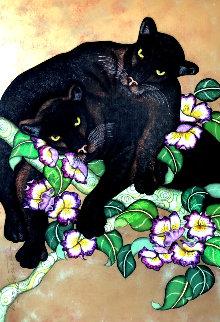 La Atenccion Del Misterio En Armonia 2005 75x56 Super Huge Original Painting - Luis Sottil