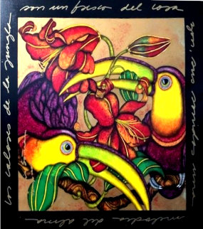 Jungle Symphony A - Sinfonia De La Jungla 2003 44x43  Huge Original Painting - Luis Sottil