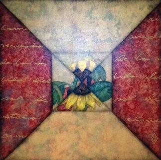 Girasol I 1990 40x40 Super Huge Original Painting - Luis Sottil