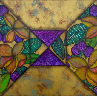 Brilliance of Colors, 2 Paintings 1994 38x38 Original Painting by Luis Sottil