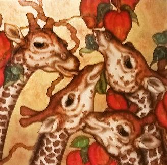 Playful Giants 2000 60x60 Huge Original Painting - Luis Sottil