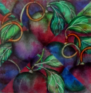 Kaleidoscope of Plums 1994 30x30 Original Painting by Luis Sottil