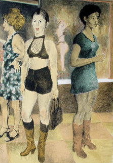 Eighth Avenue AP 1971 Limited Edition Print - Raphael Soyer