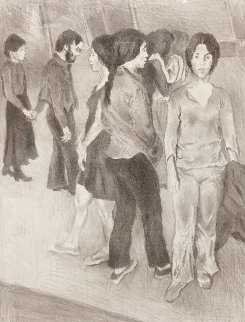 Gathering  Limited Edition Print - Raphael Soyer