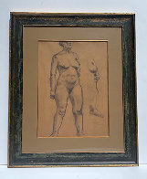 Standing Nude 1935 30x25 Works on Paper (not prints) by Raphael Soyer - 1