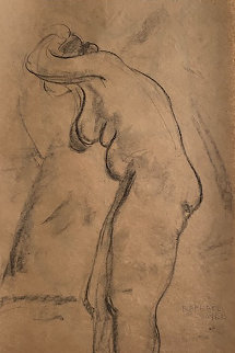 Standing Nude Drawing From the Artist Sketchbook 1935 Works on Paper (not prints) by Raphael Soyer