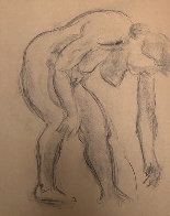 Double Sided Drawing of Nudes 1930 30x25 Drawing by Raphael Soyer - 2