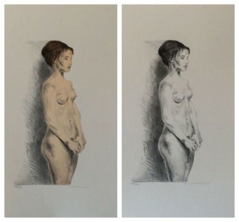 Nude Woman, Portfolio of 2 LIthograph 1980 Limited Edition Print - Raphael Soyer