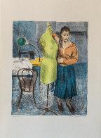 Seamstress I Portfolio 1979 Set of 2 Limited Edition Print by Raphael Soyer - 1