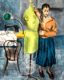 Seamstress I Portfolio 1979 Set of 2 Limited Edition Print - Raphael Soyer