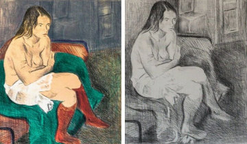Woman in Red Stockings, Portfolio of 2 Lithographs 1979 Limited Edition Print - Raphael Soyer