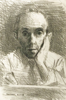 Self-Portrait 1954 Limited Edition Print - Raphael Soyer