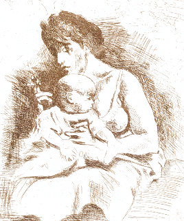 Mother And Child Limited Edition Print - Raphael Soyer