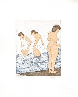 Day Bathing Limited Edition Print by Raphael Soyer - 1