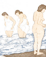 Day Bathing Limited Edition Print by Raphael Soyer - 0