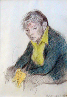 Portrait of Rebecca Soyer 1970 19x24 Works on Paper (not prints) by Raphael Soyer