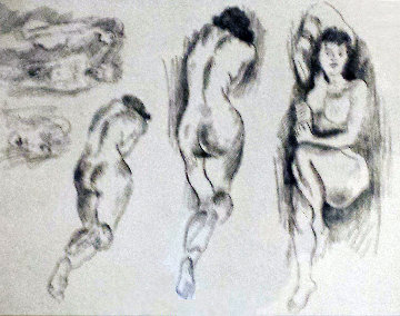 Nudes AP 1950 Limited Edition Print - Raphael Soyer