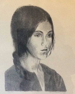 Portrait of a Girl 1980 25x21 Limited Edition Print by Raphael Soyer