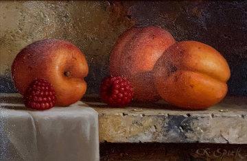 Apricots 12x15 Original Painting - Loran Speck