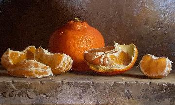 Tangerines 1995 9x13 Original Painting - Loran Speck