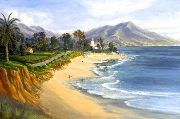 Coral Casino 2002 32x48 (Santa Barbara)  Original Painting - Janet Spreiter