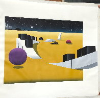 Piano Scape 1990 38x44 Super Huge Original Painting by Stan Solomon - 1