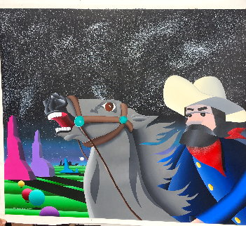 Space Cowboy 1992  44x39 Huge  Original Painting - Stan Solomon