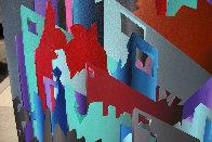 Aztec City (Crosstown Puzzle) 1984 48x72 Super Huge Original Painting by Stan Solomon - 3