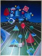 Len Scape 1985 40x30 Original Painting by Stan Solomon - 1