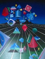 Len Scape 1985 40x30 Original Painting by Stan Solomon - 0