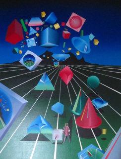 Len Scape 1985 40x30 Original Painting - Stan Solomon