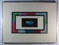 Tubular Earth 1985 30x40 Super Huge Original Painting by Stan Solomon - 2