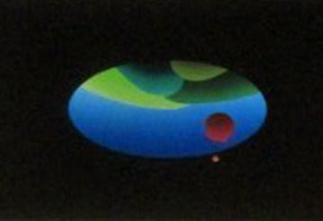 Tubular Earth 1985 30x40 Original Painting - Stan Solomon