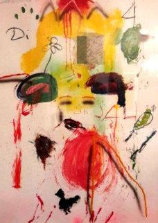 Untitled Painting 1991 54x40 Original Painting - Joseph Stabilito