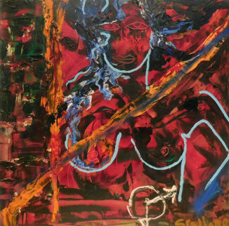 Woman (Joan Crawford) 40x40 Original Painting - Sylvester Stallone